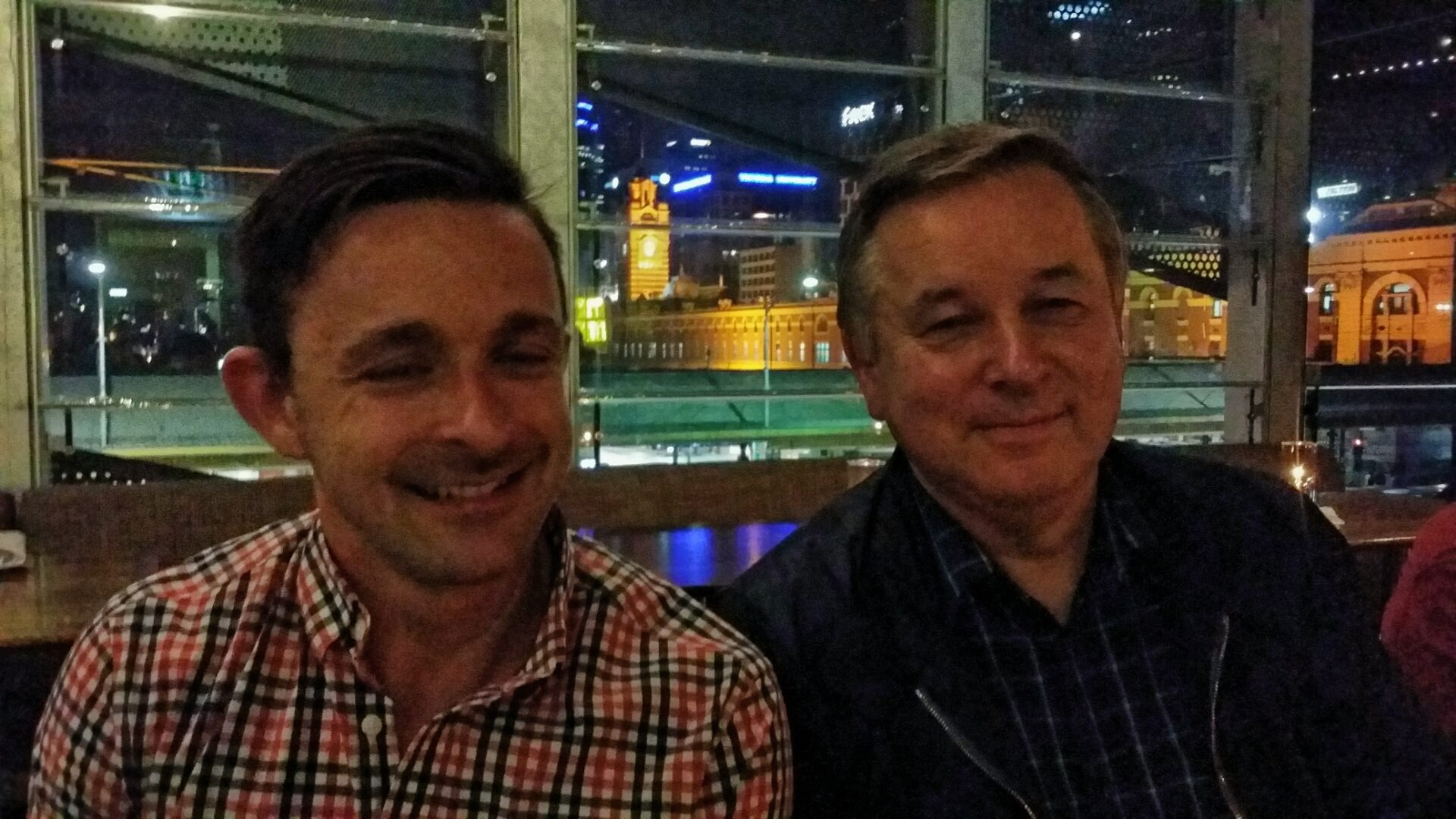 Nathan Rippon from Hal Leonard Australia and Chris in 2015
