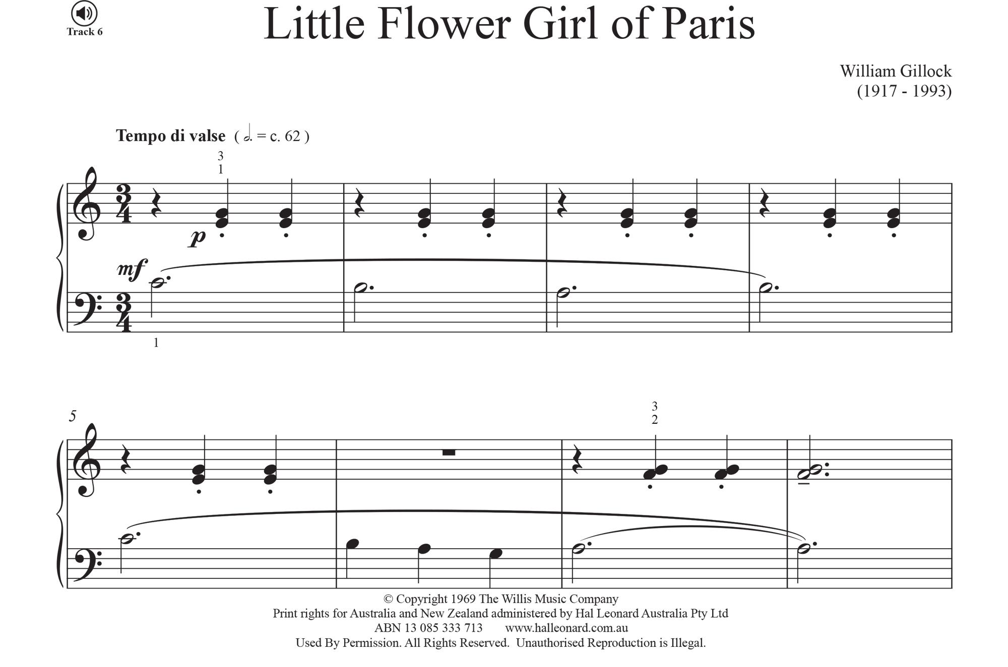 Little Flower Girl of Paris - William Gillock